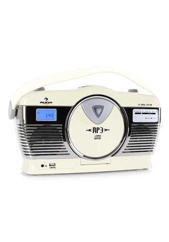 Auna Retro Kofferradio Vintage Look UKW USB MP3 Uhr CD Player tragbar »RCD 70« kaufen