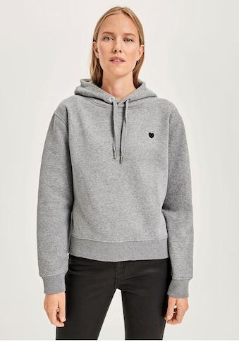 OPUS Kapuzensweatshirt »Gadira«, mit Herz-Stickerei kaufen