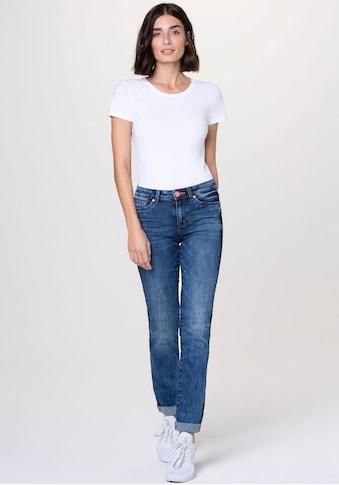 SOCCX Gerade Jeans, mit vielen neonfarbenen Details kaufen