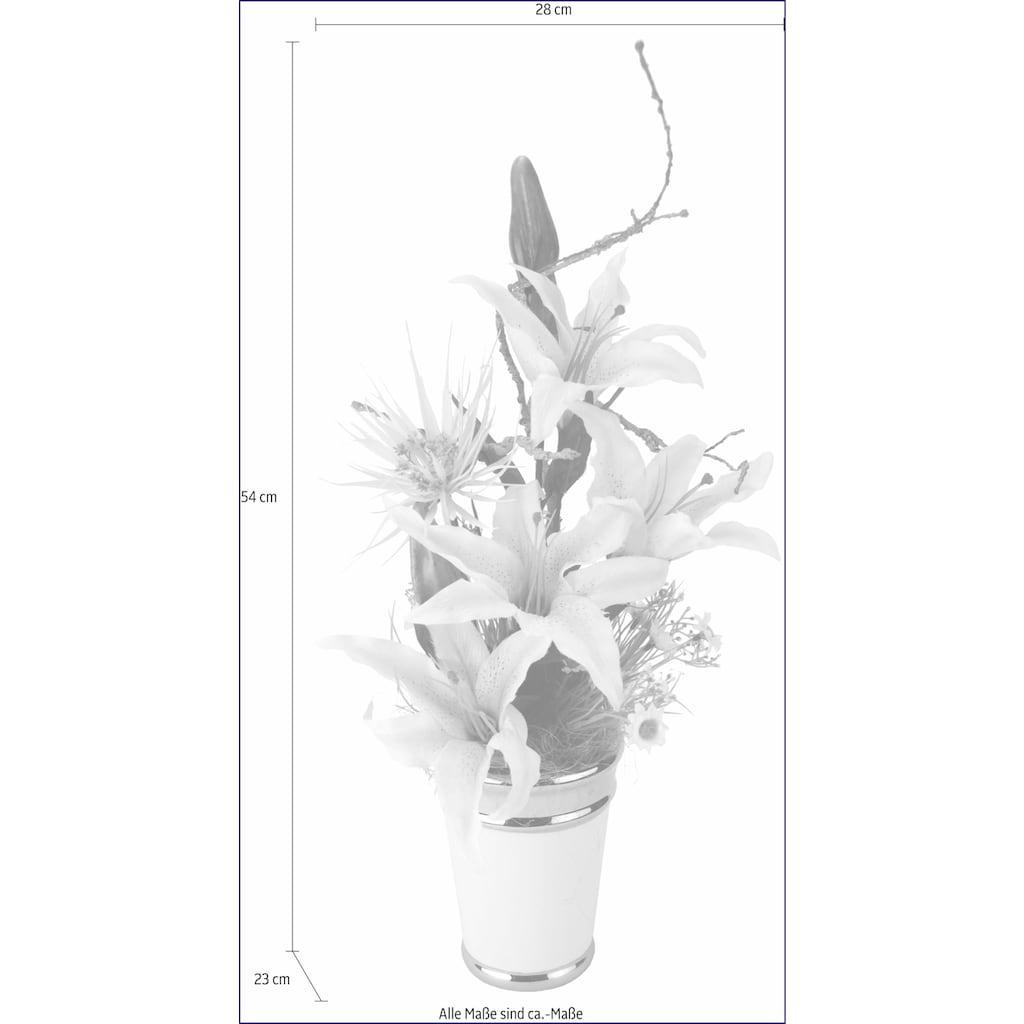 I.GE.A. Kunstpflanze »Arrangement Lilien in Topf«