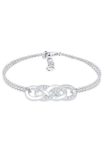 Elli Armband »Infinity Liebe Kristalle 925 Silber« kaufen