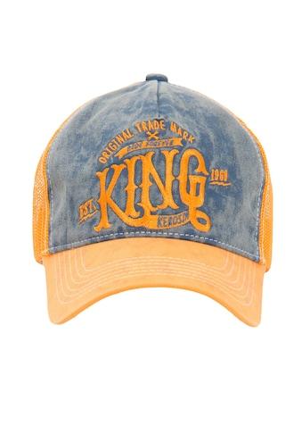 KingKerosin Trucker Cap »KING«, mit Denim Einsatz im Used Look kaufen