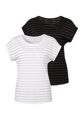 Vivance T-Shirt, mit kupferfarbenen Lurex-Streifen kaufen