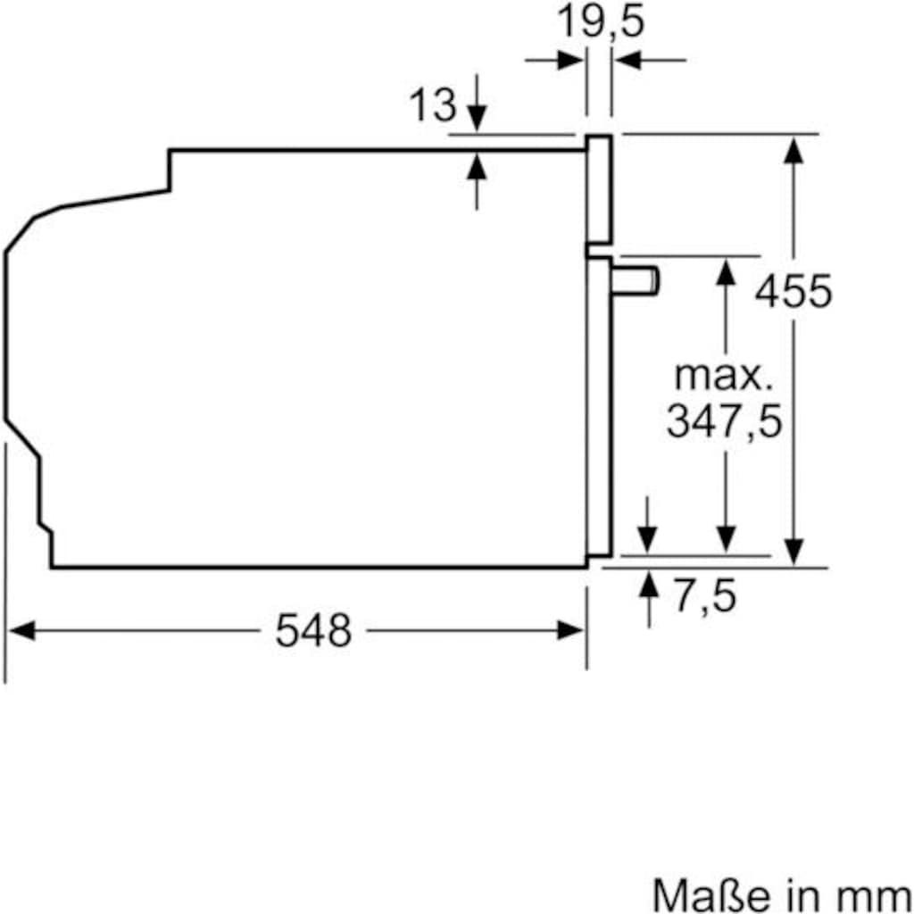 SIEMENS Einbau-Dampfgarer »CD634GAS0«