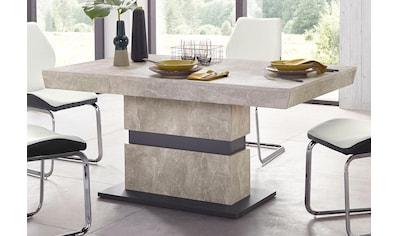 Homexperts Säulen-Esstisch »Marley Az«, ausziehbar, in 2 Größen (140 + 160) kaufen