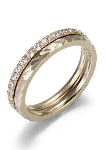 Firetti Ring-Set »4,0 mm, glänzend, matt, IP-beschichtet gelbgoldfarben, schlicht und... kaufen