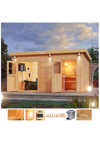 Karibu Saunahaus »Matz«, 9-kW-Ofen mit ext. Steuerung, Vorraum kaufen