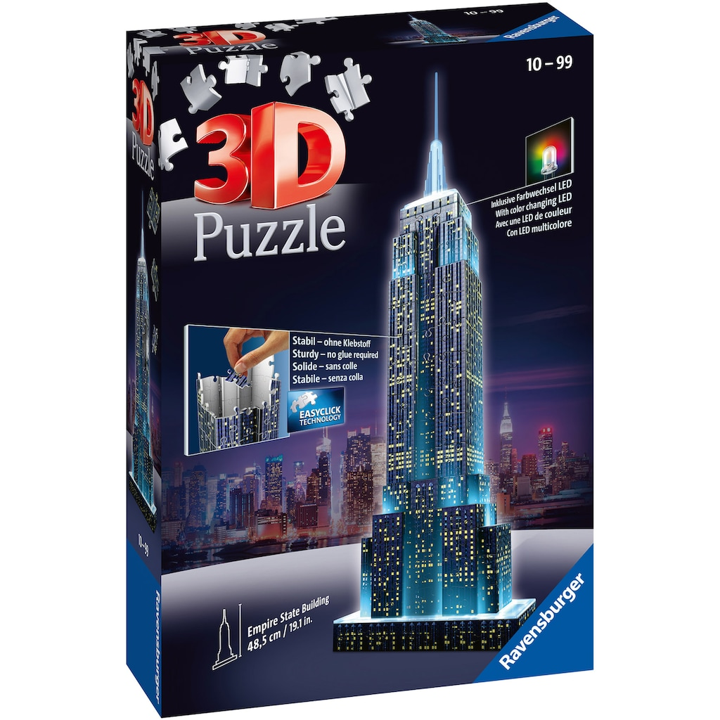 Ravensburger 3D-Puzzle »Empire State Building Night Edition«, Made in Europe, FSC® - schützt Wald - weltweit
