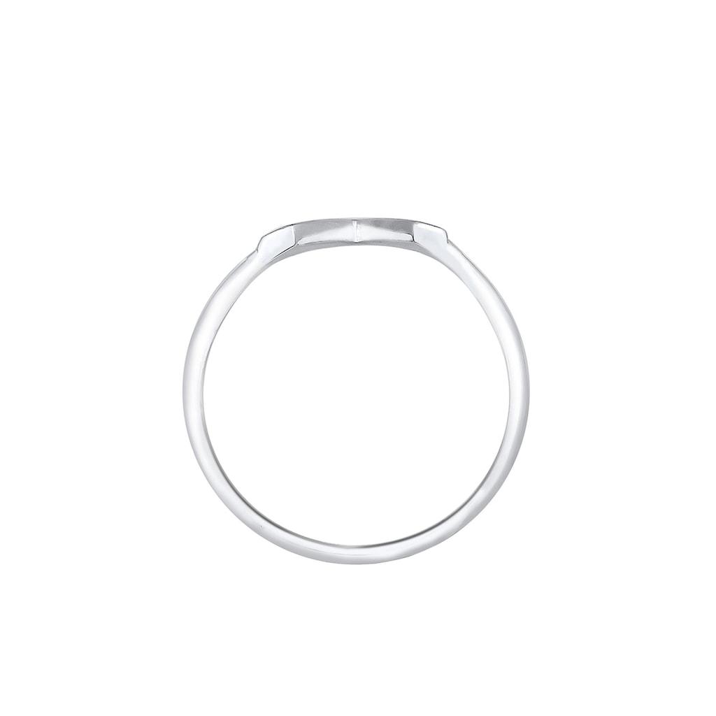 Elli Fingerring »V-Form Matt Basic 925 Silber«