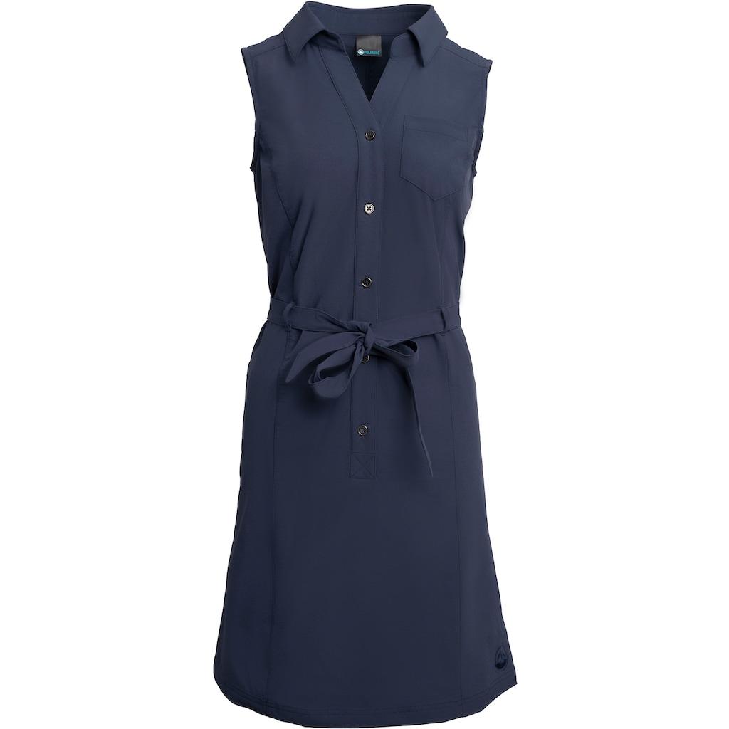 Polarino Blusenkleid, mit Knopfleiste und Bindegürtel