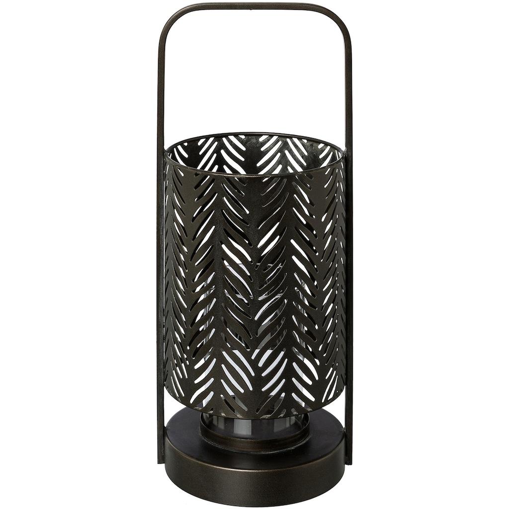 andas Windlicht »Jalmar«, aus Metall, mit Glaseinsatz