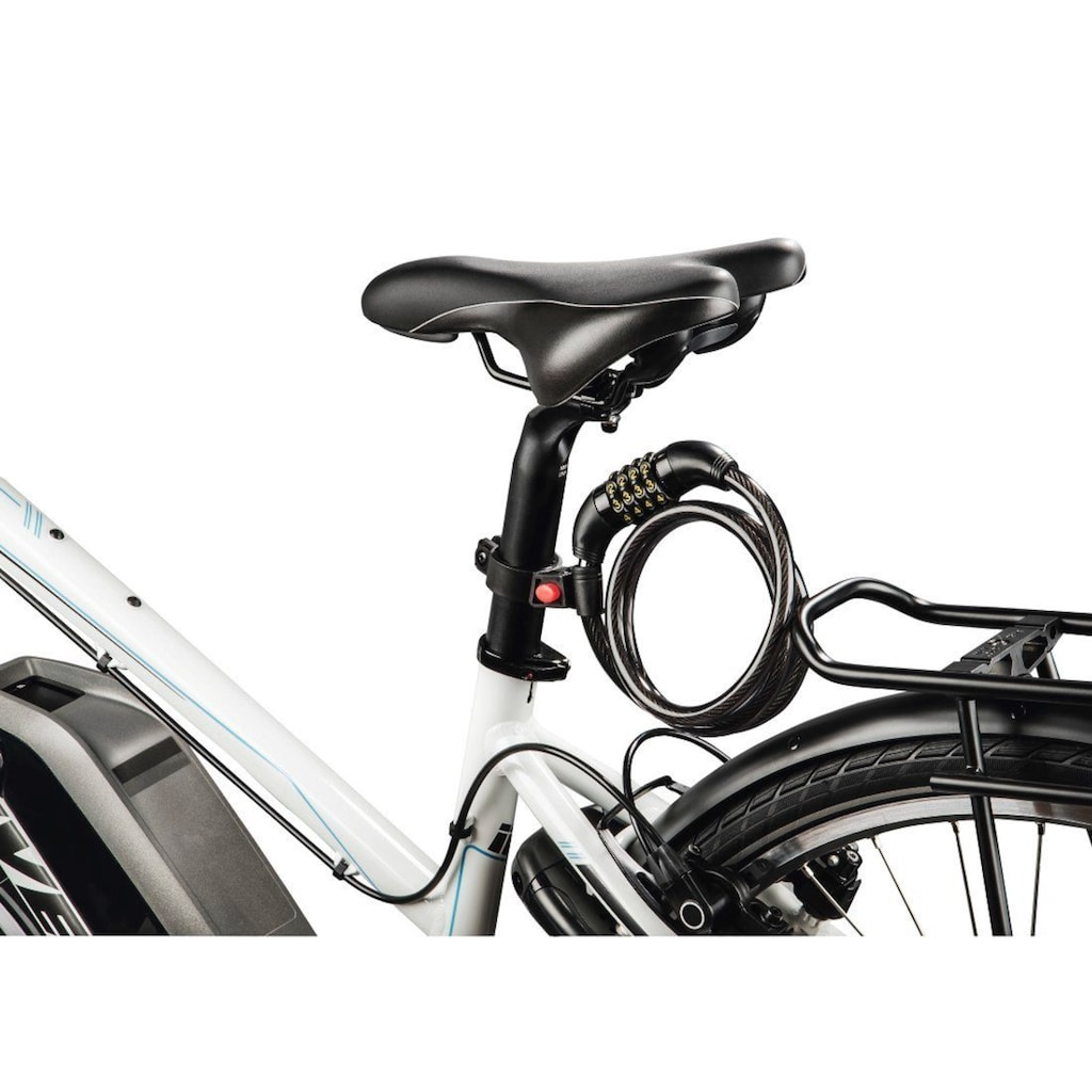 Hama Fahrradschloss, 4 stelliges Zahlenschloss mit Halterung