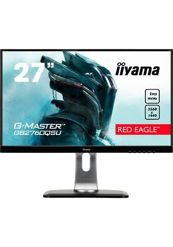 Iiyama »GB2760QSU - B1« Gaming - LED - Monitor (27 Zoll, 2560 x 1440 Pixel, WQHD, 1 ms Reaktionszeit, 144 Hz) kaufen