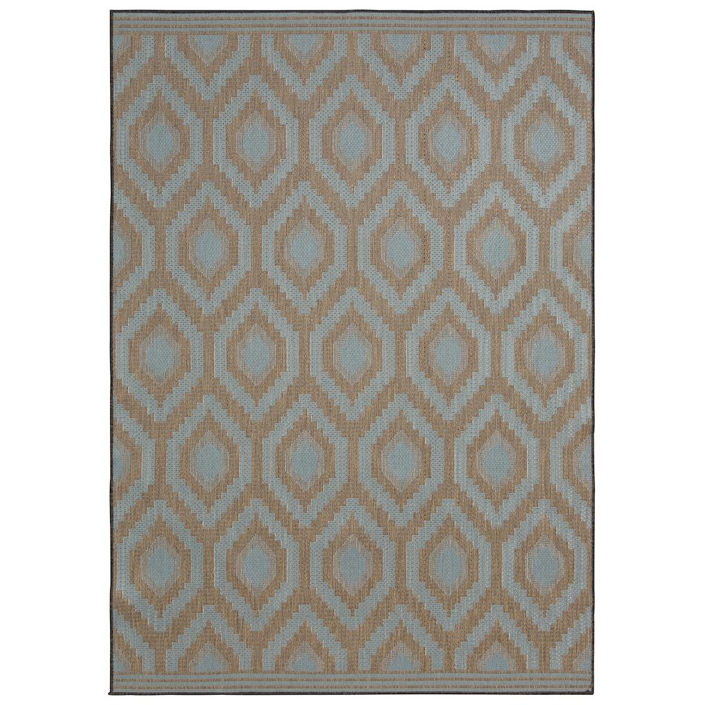 Bruno Banani Teppich »Sabin«, rechteckig, 7 mm Höhe, In-und Outdoor geeignet, Wendeteppich, Wohnzimmer