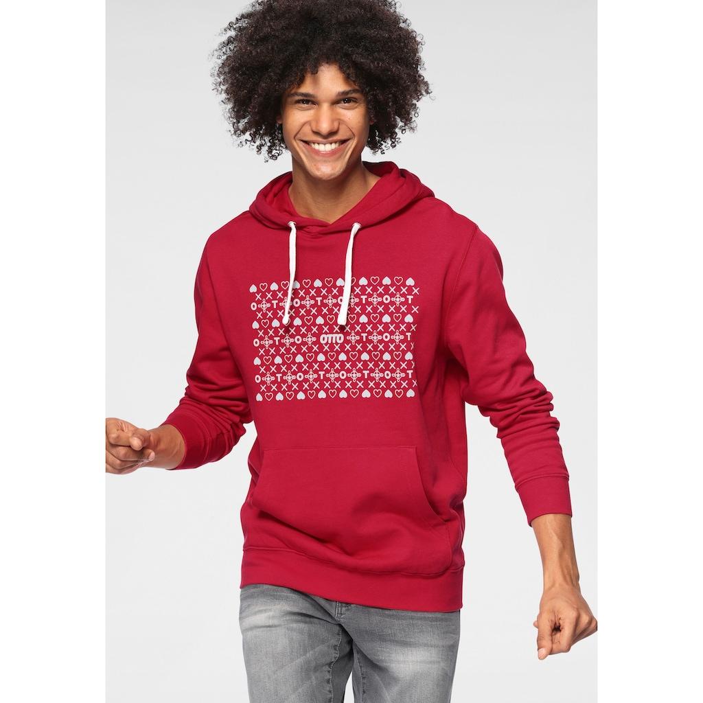 """OTTO Kapuzensweatshirt »OTTO Logo«, Kleine Symbole um """"OTTO""""/aus GOTS zertifizierter Bio-Baumwolle"""