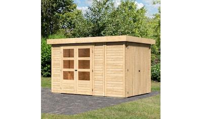 WOODFEELING Gartenhaus »Retola 3«, BxT: 342x238 cm, mit Anbauschrank kaufen