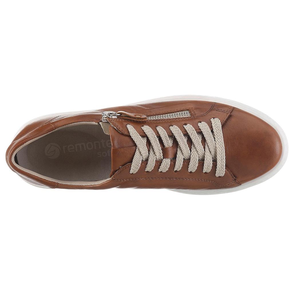 Remonte Plateausneaker, mit herausnehmbarem Soft-Foam Fußbett