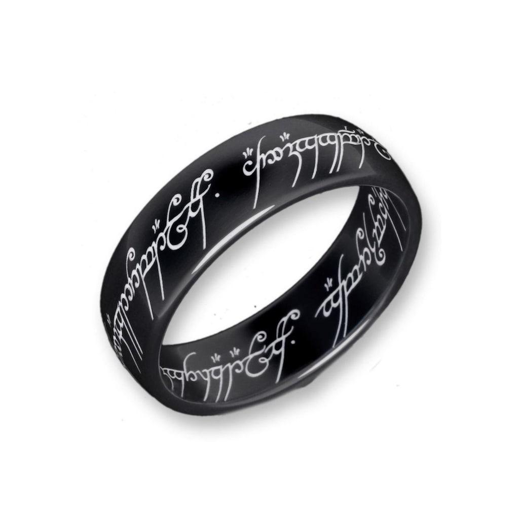 Der Herr der Ringe Fingerring »Der Eine Ring - Titan Blackline, 10004043«, Made in Germany