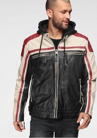 ALPENBLITZ Lederjacke »Thunder Bay«, mit Brusttaschen kaufen