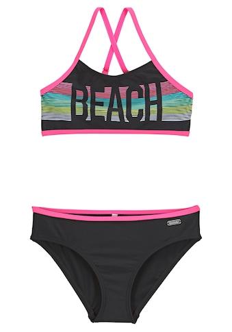 Bench. Bustier-Bikini, mit pinken Kontrastpaspeln kaufen