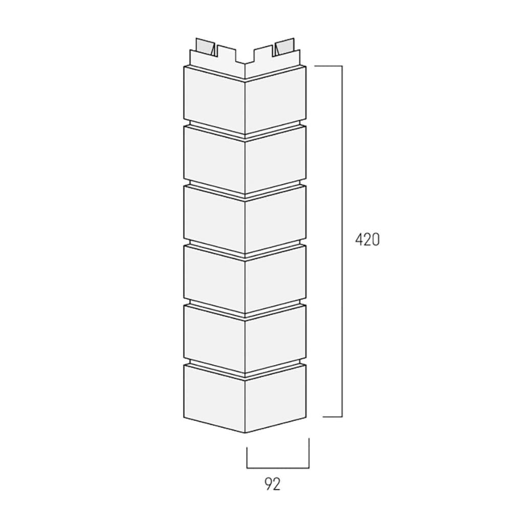 Baukulit VOX Verblender »Solid Brick Conventry Außenecke«, weiß