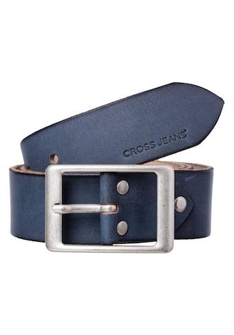 Cross Jeans® Ledergürtel »0382K«, kürzbare Gürtellänge durch Schraubsystematik kaufen