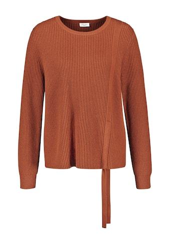 GERRY WEBER Rundhalspullover »Pullover mit Raffung« kaufen