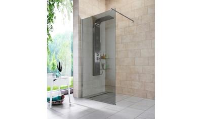 WELLTIME Walk - In Dusche »Duschabtrennung«, Breite 100 cm, Grauglas kaufen