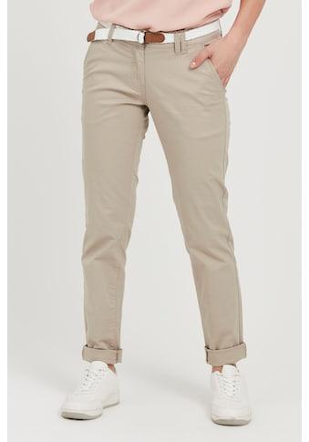 OXMO Chinohose »Chakira«, (mit abnehmbarem Gürtel), lange Hose mit Gürtel in... kaufen