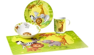 """Ritzenhoff & Breker Kindergeschirr - Set """"Dschungeltiere"""" (4 - tlg.), Porzellan kaufen"""