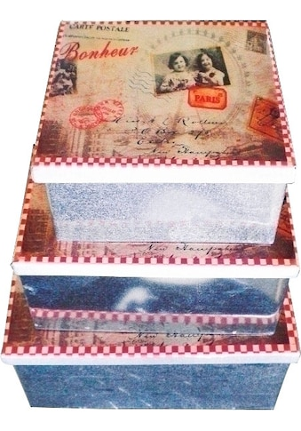 Myflair Möbel & Accessoires Dekokiste »Lola«, (Set, 3 St.), Romantik kaufen