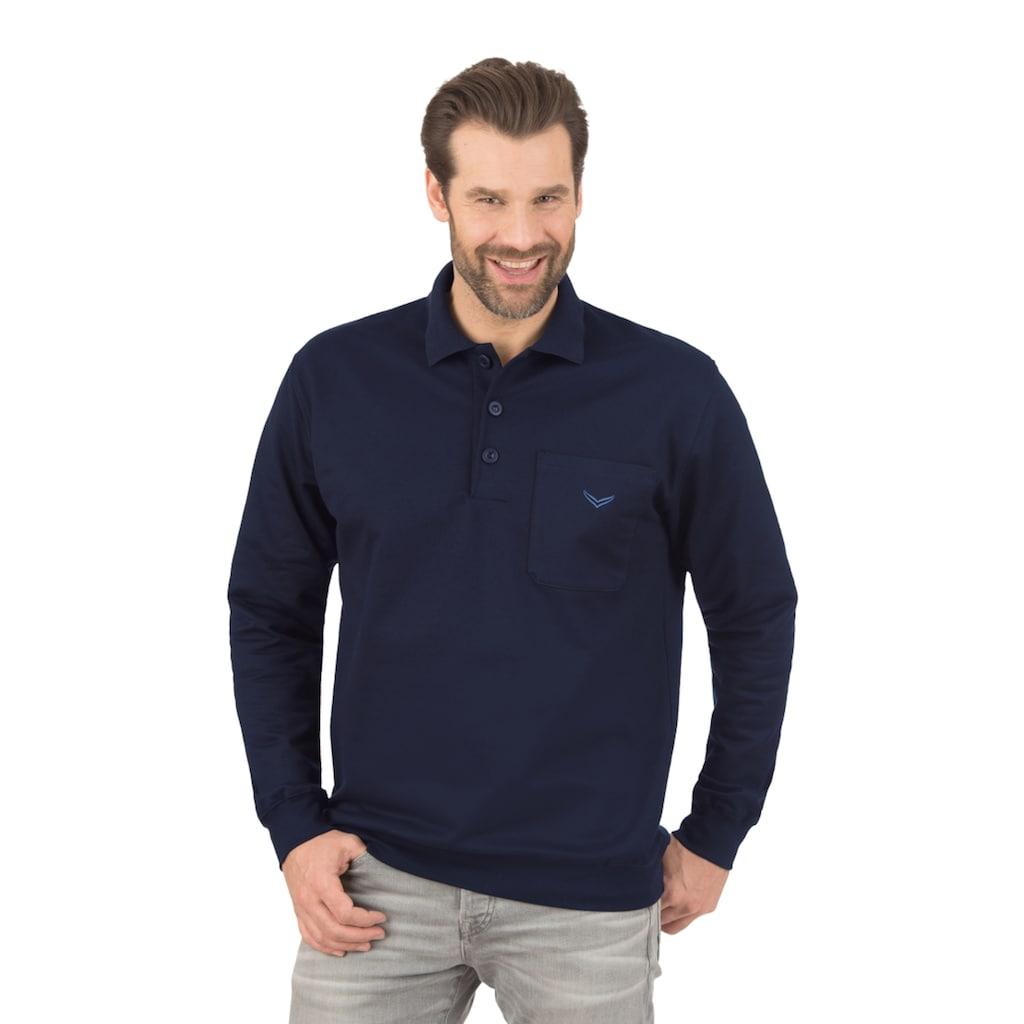 Trigema Langarm Polo aus Sweat-Qualität