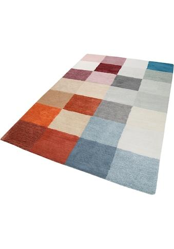 Esprit Teppich »Loft Karo«, rechteckig, 20 mm Höhe, Wohnzimmer kaufen