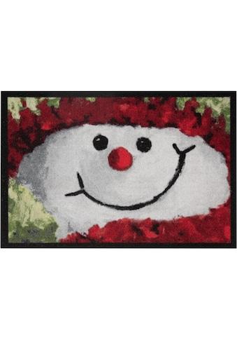 HANSE Home Fußmatte »Snowman«, rechteckig, 7 mm Höhe, Schmutzfangmatte, In- und... kaufen