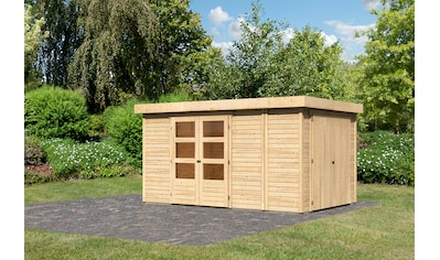 WOODFEELING Gartenhaus »Retola 6«, BxT: 404x262 cm, mit Anbauschrank kaufen