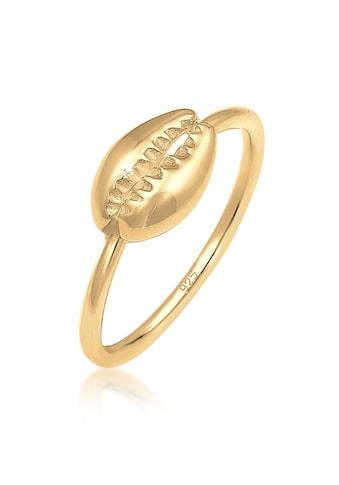 Elli Fingerring »Kaurimuschel Sommer Meer Urlaub Trend 925 Silber« kaufen