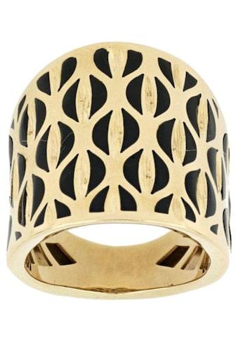 Firetti Goldring »verlaufend, mit auffälligem Muster«, mit schwarzem Lack kaufen