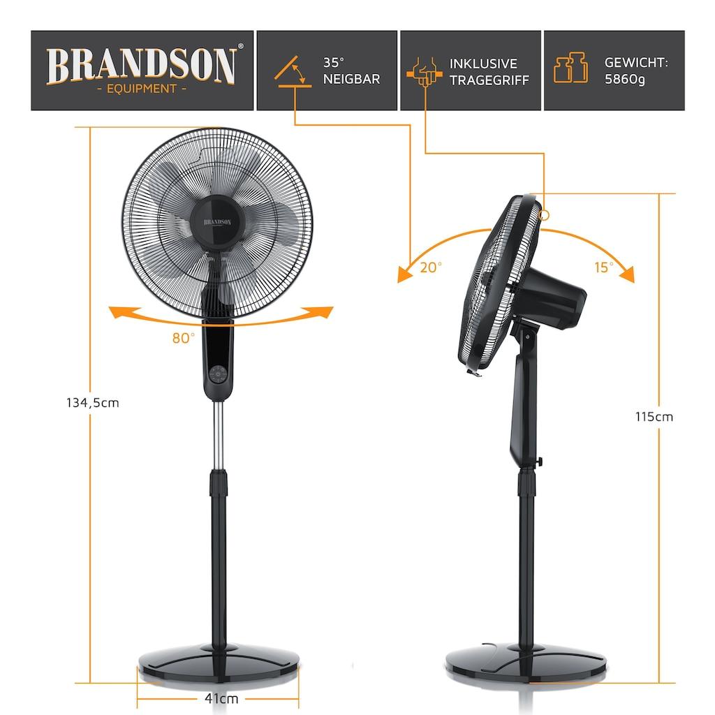 Brandson DC Standventilator mit Fernbedienung und Display