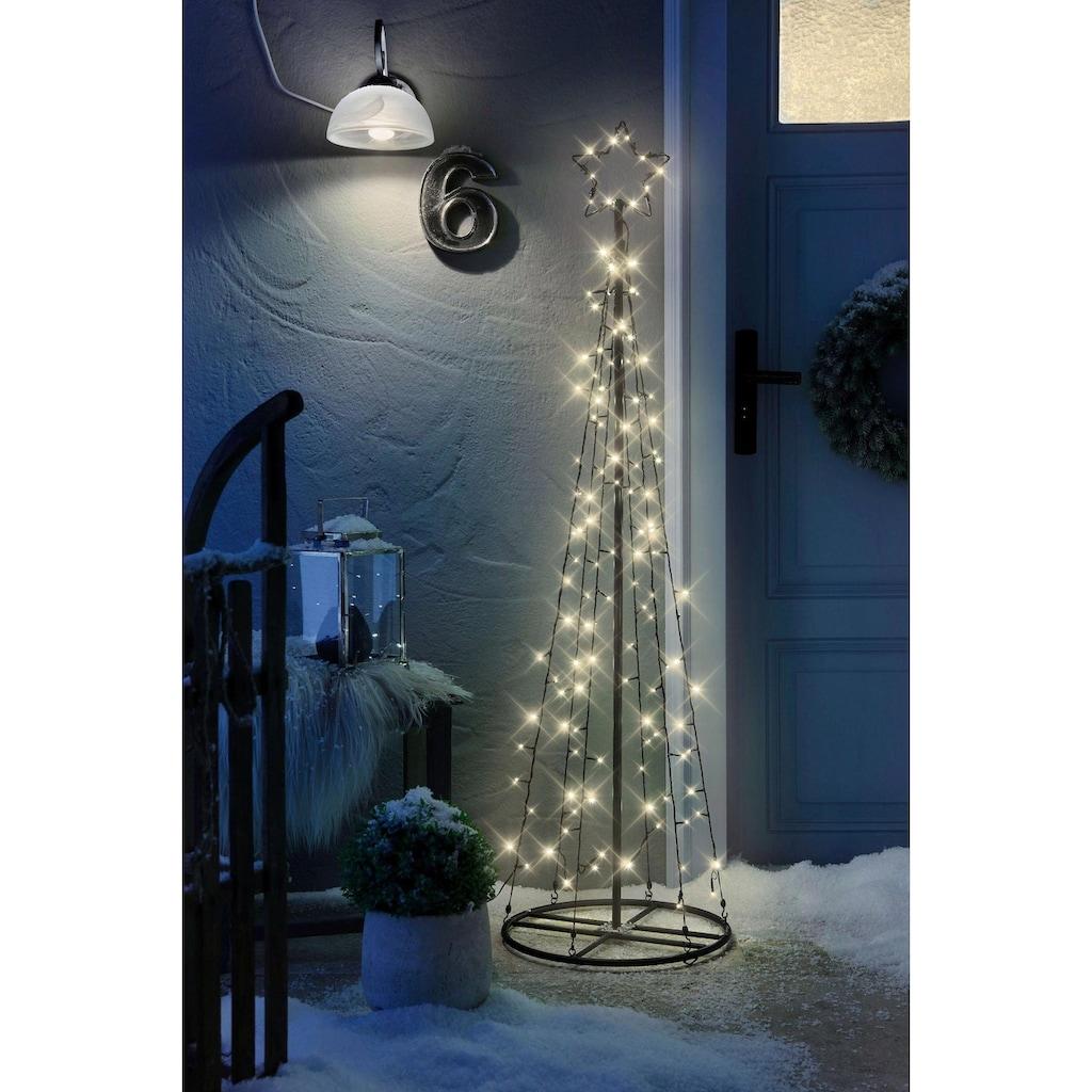 BONETTI LED Baum, Warmweiß, inkl. IP44 Netzadapter