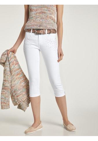 Capri - Jeans Alwa mit Strass - Steinchen kaufen