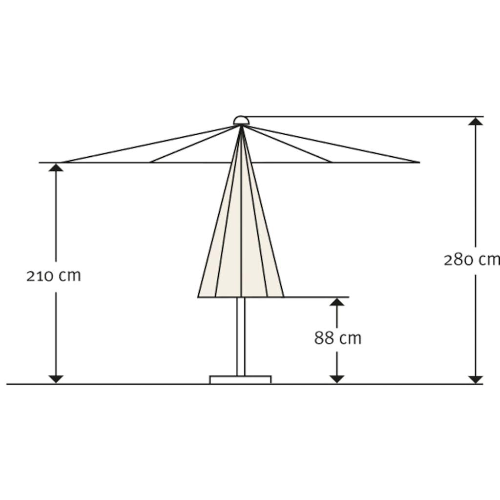 Schneider Schirme Sonnenschirm »Monaco«, ohne Schirmständer