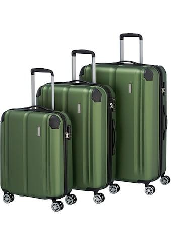 """travelite Trolleyset """"City, grün"""", 4 Rollen, (3tlg.) kaufen"""