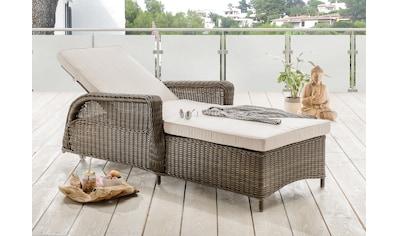 DESTINY Sonnenliege »Casa«, Polyrattan, verstellbar, inkl. Auflagen kaufen