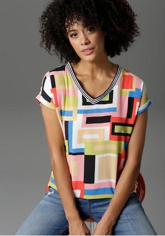 Aniston CASUAL T-Shirt, im Material- und Mustermix - NEUE KOLLEKTION kaufen