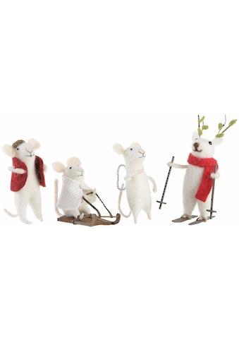 CHRISTMAS GOODS by Inge Tierfigur »Mäuse« (Set, 4 Stück) kaufen