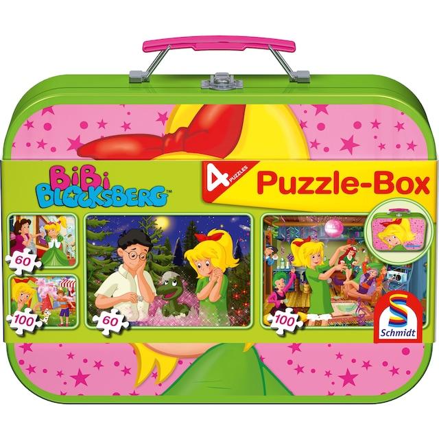 """Schmidt Spiele Puzzle """"Puzzlebox im Metallkoffer, Bibi Blocksberg™"""""""