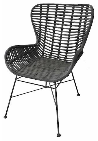 SIT Sessel »Sit&Chairs«, mit geschwungenen Armlehnen, in schwarz oder natur, Shabby... kaufen