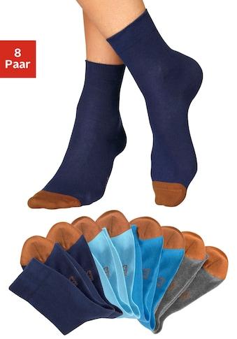 H.I.S Socken, (8 Paar), mit kontrastfarbener Spitze kaufen