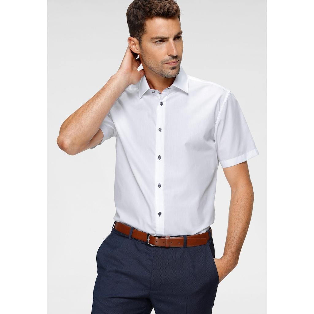 Class International Businesshemd, Kurzarmhemd, auch mit kontrastfarbenen Knöpfen