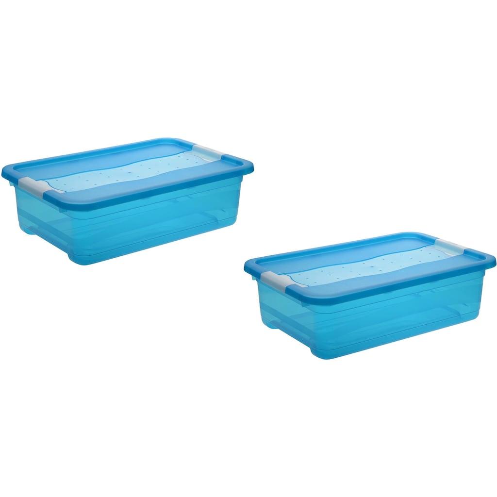 keeeper Aufbewahrungsbox »cornelia«, (Set, 2 St.), mit Deckel, 28 Liter